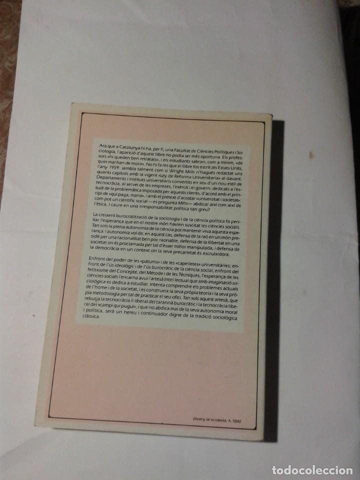 Libros: LA IMAGINACIO SOCIOLOGICA C. WRIGHT MILLS - Foto 2 - 177606572