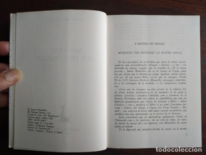 Libros: Mes gent que he conegut de Jaume Miravitlles. recull d´escrits en diverses publicacions catalanes - Foto 2 - 183497732