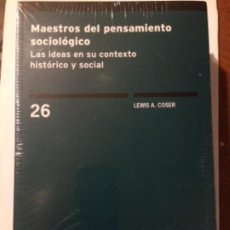 Libros: MAESTROS DEL PENSAMIENTO SOCIOLÓGICO. LAS IDEAS EN SU CONTEXTO HISTÓRICO Y SOCIAL. CIS 26. Lote 186442321
