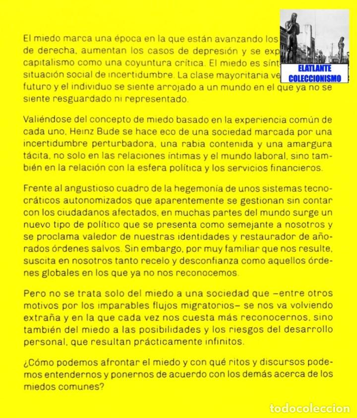 Libros: LA SOCIEDAD DEL MIEDO - HEINZ BUDE - HERDER - FILOSOFÍA POLÍTICA SOCIEDAD SOCIOLOGÍA SIGLO XXI - 14€ - Foto 5 - 187457247