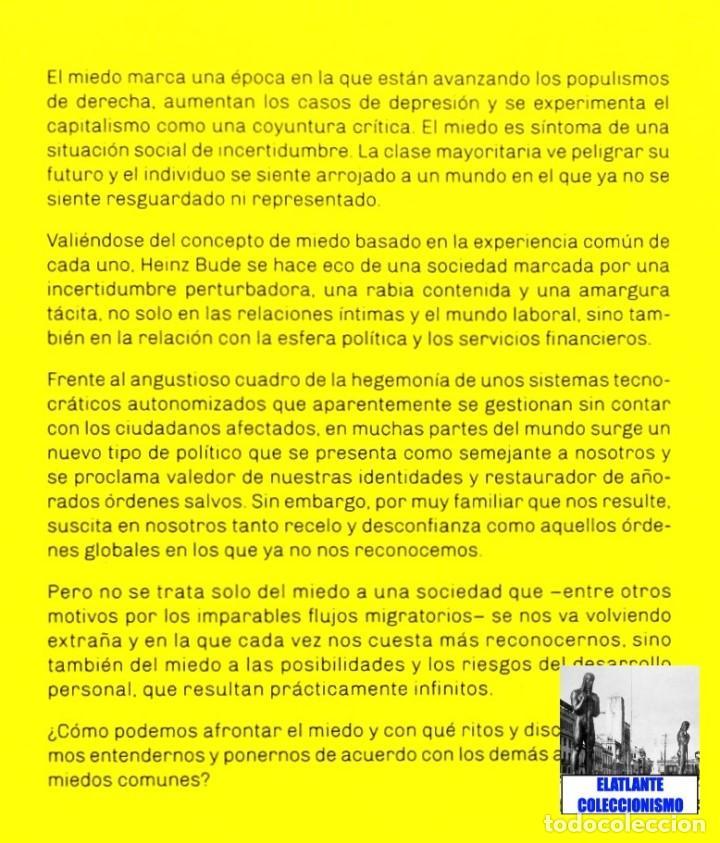 Libros: LA SOCIEDAD DEL MIEDO - HEINZ BUDE - HERDER - FILOSOFÍA POLÍTICA SOCIEDAD SOCIOLOGÍA SIGLO XXI - 14€ - Foto 6 - 187457247