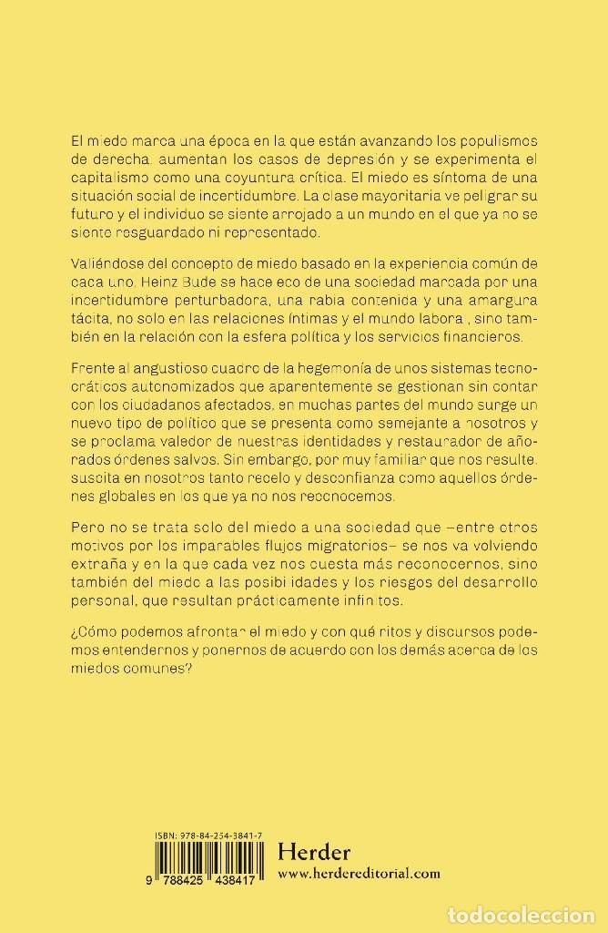 Libros: LA SOCIEDAD DEL MIEDO - HEINZ BUDE - HERDER - FILOSOFÍA POLÍTICA SOCIEDAD SOCIOLOGÍA SIGLO XXI - 14€ - Foto 7 - 187457247