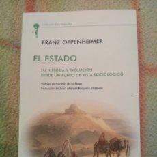 Libri: EL ESTADO FRANZ OPPENHEIMER UNION EDITORIAL. Lote 191688012