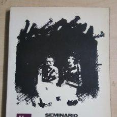 Libros: SEMINARIO SOBRE EMPLEO JUVENIL Y FEMENINO MURCIA 1980 CONSEJERIA DE TRABAJO 162 PÁGINAS. Lote 192290575