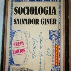 Libros: SOCIOLOGÍA. SALVADOR GINER. Lote 195994323