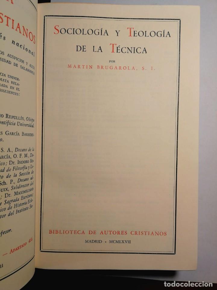 Libros: SOCIOLOGÍA Y TEOLOGÍA DE LA CIENCIA. MARTIN BRUGAROLA - Foto 2 - 196664971