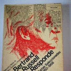 Libros: CARTAS SELECCIONADAS. 1950-1968. BERTRAND RUSSELL. Lote 199188117