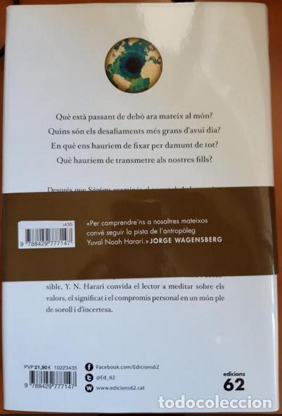 Libros: 21 LLIÇONS PER EL SEGLE XXI - Foto 2 - 201290376