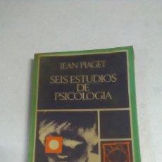 Libros: PIAGET. SEIS ESTUDIOS DE PSICOLOGÍA. Lote 205244853
