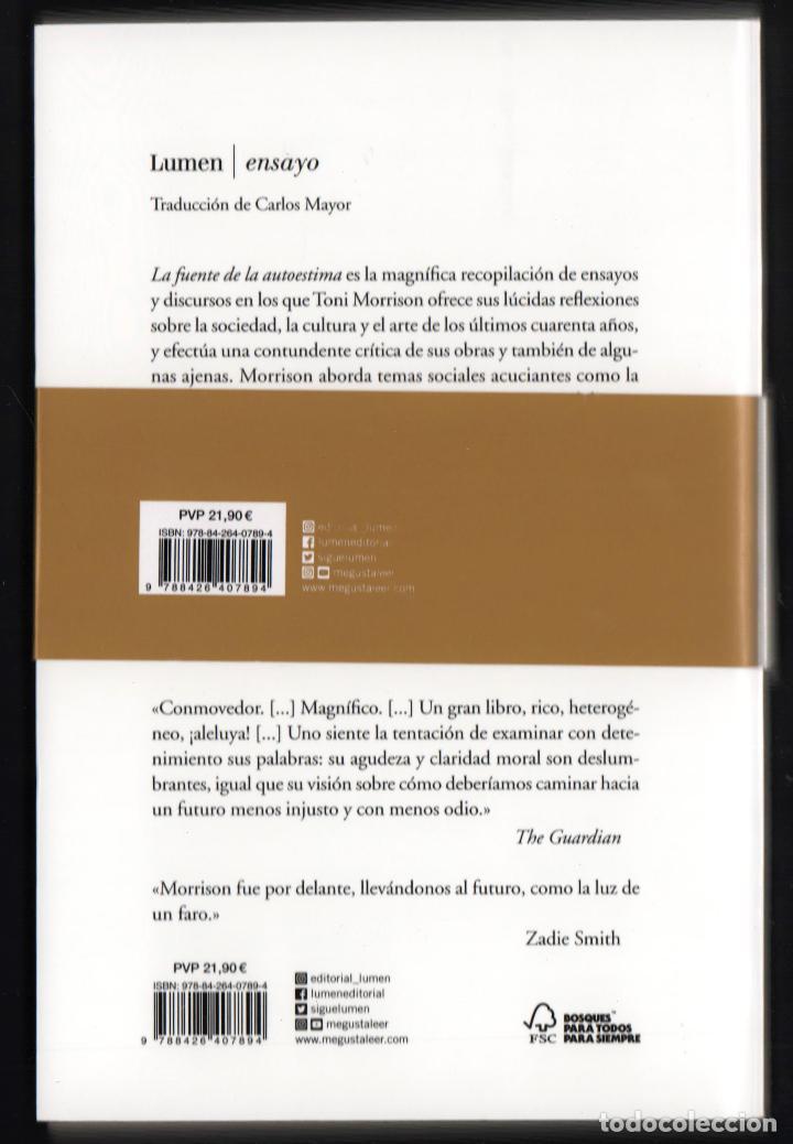 Libros: TONI MORRISON LA FUENTE DE LA AUTOESTIMA ENSAYOS DISCURSOS MEDITACIONES E LUMEN 2020 1ª EDICIÓN FAJA - Foto 7 - 213572496