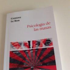 Livres: GUSTAVE LE BON, PSICOLOGÍA DE LAS MASAS. Lote 219215621