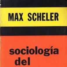 Libros: SOCIOLOGÍA DEL SABER MAX SCHELER. Lote 220629287