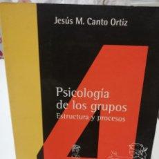 Libros: PSICOLOGIA DE LOS GRUPOS. Lote 221803050