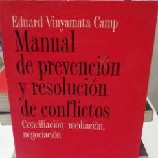 Libros: MANUAL DE PREVENCIÓ Y RESOLUCIÓ DE CONFLICTOS. Lote 221805052