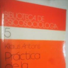 Libros: PRÀCTICA DE LA DINÀMICA DE GRUPOS. Lote 221928866
