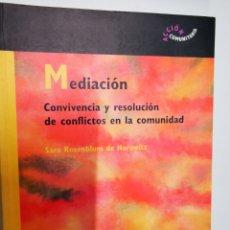 Libros: MEDIACIÓ, CONVIVÈNCIA Y RESOLUCIÓ DE CONFLICTOS EN LA COMUNIDAF. Lote 221932208