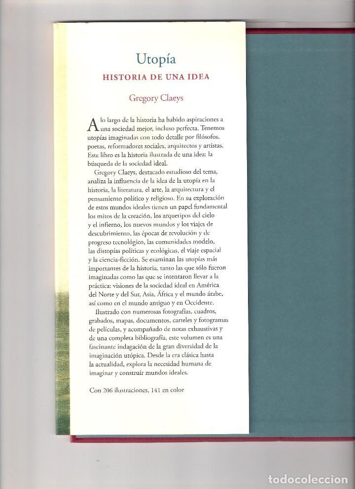 Libros: UTOPÍA, Historia de una idea. Gregory Claeys. Ed. Siruela - Foto 3 - 235906080