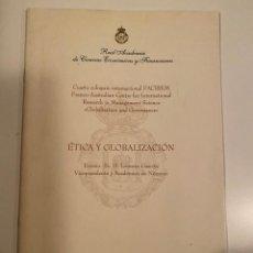 "Libros: ""ÉTICA Y GLOBALIZACIÓN"" - D. LORENZO GASCÓN. Lote 245156235"