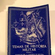 """Libros: """"TEMAS DE HISTORIA MILITAR"""" - COLECCIÓN ADALID. Lote 245360310"""