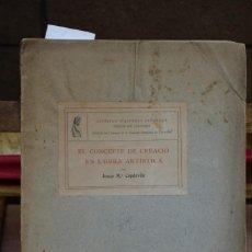 Libros: CAPDEVILA JOSEP Mª. EL CONCEPTE DE CREACIO EN L´OBRA ARTISTICA.. Lote 269045408