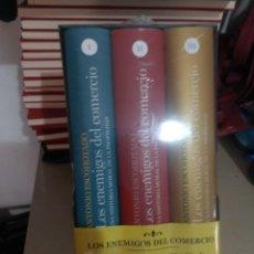 Libros: LOS ENEMIGOS DEL COMERCIO. ANTONIO ESCOHOTADO. PRIMERA EDICIÓN TAPA DURA. TRES TOMOS. Lote 281058928