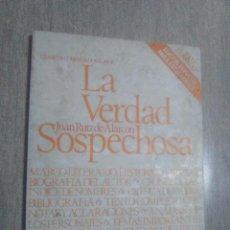 Libros: LA VERDAD SOSPECHOSA. JUAN RUIZ DE ALCARCON 1980. EDITORIAL PLAYOR. Lote 53605253