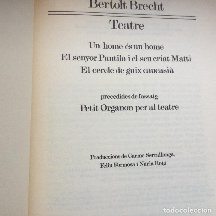 Libros: Teatre. BERTOLT BRECHT. - Foto 2 - 88363396