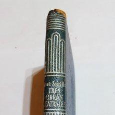 Libros: LIBRO TRES OBRAS TEATRALES JOSÉ ZORRILLA Y MORAL. AGUILAR CRISOL CRISOLIN. 1963 6°EDICIÓN N°177. Lote 105311307
