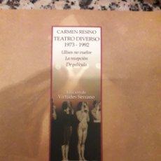 Libri: TEATRO DIVERSO 1973-1992. CARMEN RESINO. Lote 114296243