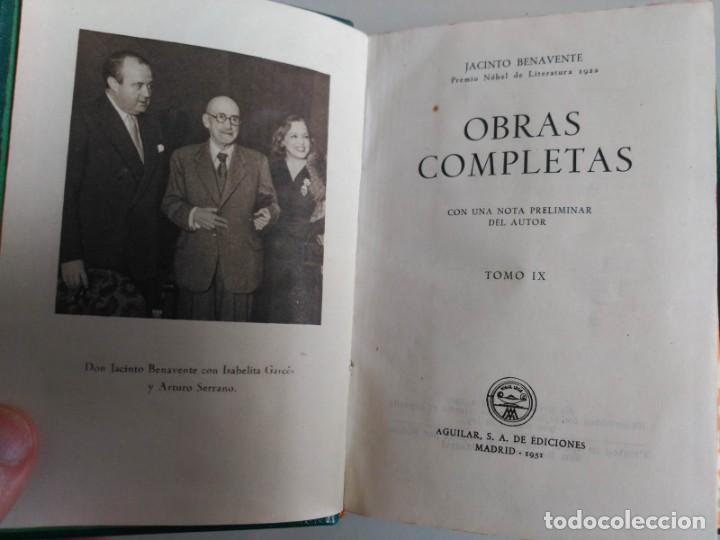 Libros: Joya, Jacinto Benavente, Tomo IX, Aguilar - Foto 3 - 139710710