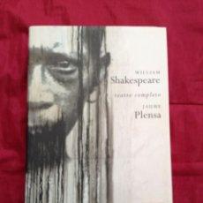 Libri: TEATRO COMPLETO DE SHAKESPEARE ILUSTRADO POR JAUME PLENSA. Lote 156736894