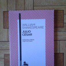 Libros: WILLIAM SHAKESPEARE - JULIO CÉSAR. Lote 171399428