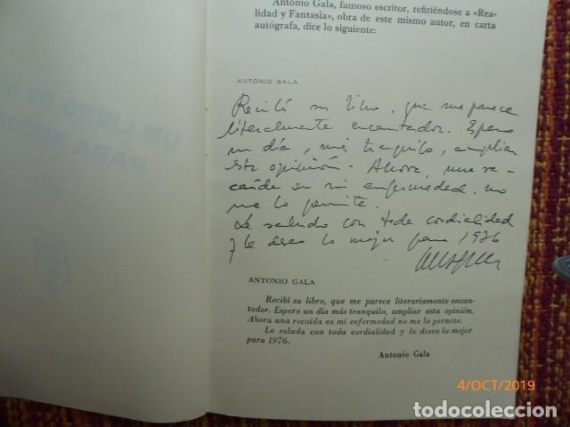 Libros: un libro de malaga, por j. codeso, dedicatoria, y de antonio gala, - Foto 2 - 179524213