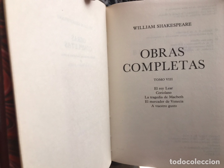 Libros: Obras Completas de William Shakespeare - Foto 2 - 186209906