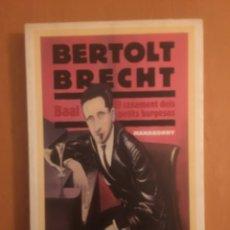 Libros: BERTOLT BRECH. BAAL, EL CASAMENT DELS PETITS BURGESOS, MANHAGONNY. Lote 196795588