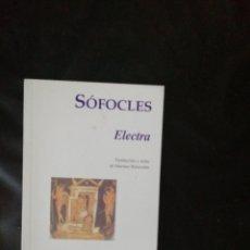 Livros: SOFOCLES, ELECTRA. Lote 214778342