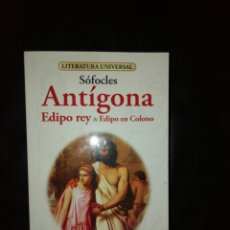 Libros: SOFOCLES, ANTIGONA Y EDIPO REY. Lote 215070928