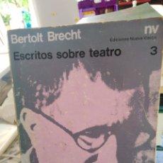 Libros: ESCRITOS SOBRE TEATRO-BERTOLT BRECHT,EDICIONES NUEVA VISIÓN 3,1976,ALGO DESLUCIDO Y ALGO FATIGADO. Lote 215558846