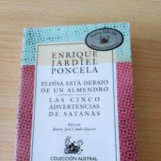 Libros: ELOÍSA ESTÁ DEBAJO DE UN ÁRBOL. ENRIQUE JARDIEL PONCELA. NUEVO. Lote 226221495