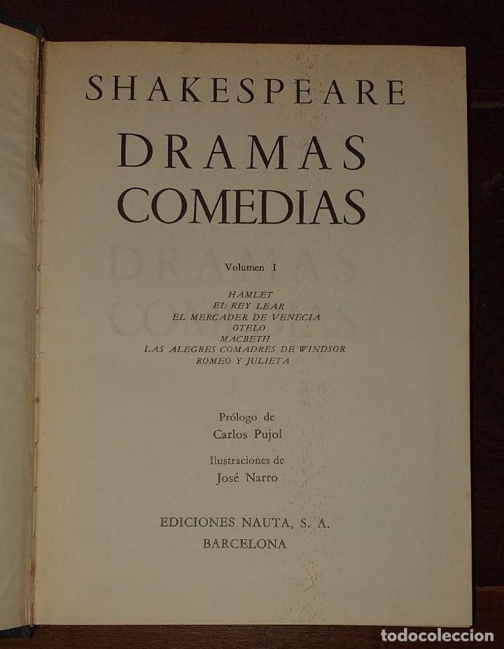 Libros: Dramas. Comedias. Tomo I: Hamlet, El rey Lear, El mercader de Venecia, Otelo, Macbeth, Las alegres c - Foto 2 - 237340155