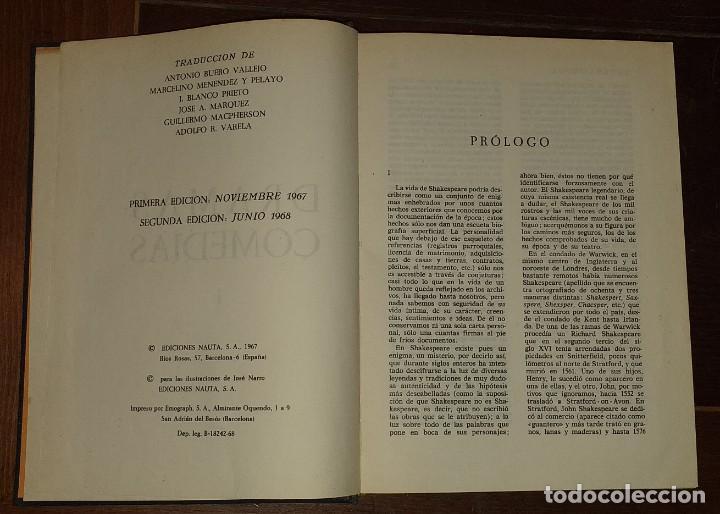 Libros: Dramas. Comedias. Tomo I: Hamlet, El rey Lear, El mercader de Venecia, Otelo, Macbeth, Las alegres c - Foto 3 - 237340155