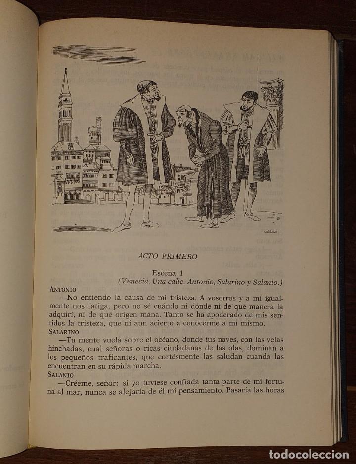 Libros: Dramas. Comedias. Tomo I: Hamlet, El rey Lear, El mercader de Venecia, Otelo, Macbeth, Las alegres c - Foto 4 - 237340155
