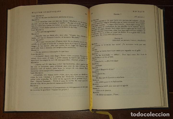Libros: Dramas. Comedias. Tomo I: Hamlet, El rey Lear, El mercader de Venecia, Otelo, Macbeth, Las alegres c - Foto 5 - 237340155