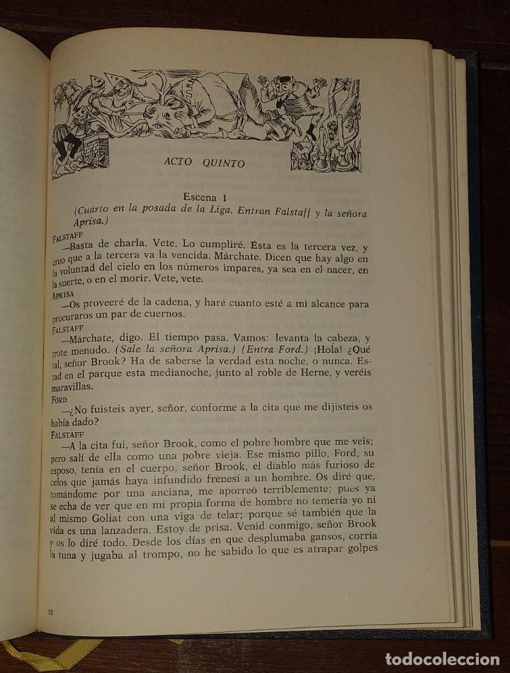 Libros: Dramas. Comedias. Tomo I: Hamlet, El rey Lear, El mercader de Venecia, Otelo, Macbeth, Las alegres c - Foto 7 - 237340155