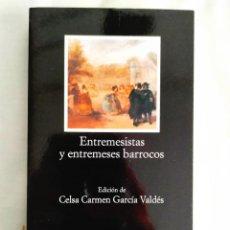 Libros: ENTREMESISTAS Y ENTREMESES BARROCOS - NUEVO. Lote 240030430