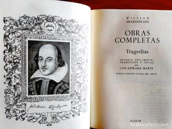SHAKESPEARE - TRAGEDIAS COMPLETAS - AGUILAR - NUEVO (Libros Nuevos - Literatura - Teatro)