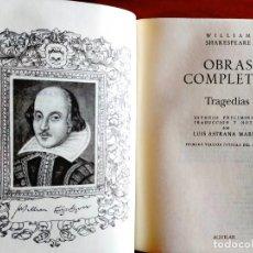 Libros: SHAKESPEARE - TRAGEDIAS COMPLETAS - AGUILAR - NUEVO. Lote 240486165