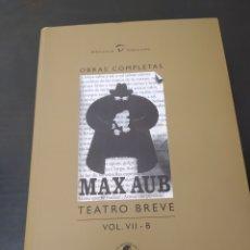 Livros: MAX AUB TEATRO BREVE VOLUMEN 7-B. Lote 261696895