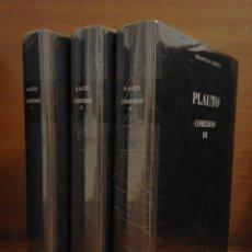 Libros: PLAUTO - COMEDIAS - BIBLIOTECA CLÁSICA GREDOS Nº 55/56/57 - 2016. Lote 265660599