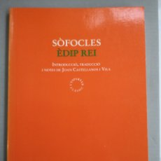 Libros: SÒFOCLES. ÈDIP REI. TRAD. I NOTES: JOAN CASTELLANOS. L'ESPARVER CLÀSSIC, 5A ED. JUNY 2003 (NOU).. Lote 273190783
